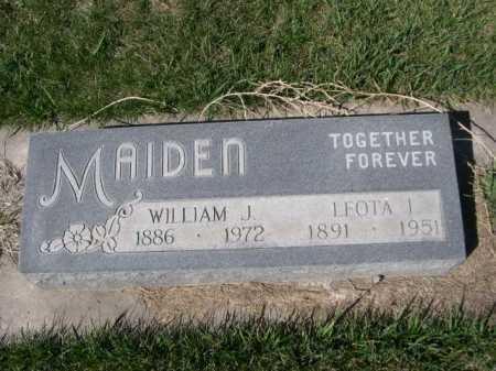 MAIDEN, LEOTA I. - Dawes County, Nebraska | LEOTA I. MAIDEN - Nebraska Gravestone Photos