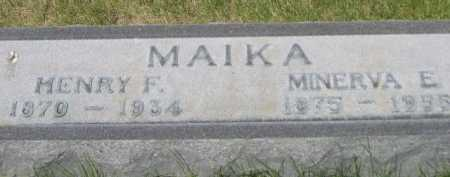 MAIKA, HENRY F. - Dawes County, Nebraska | HENRY F. MAIKA - Nebraska Gravestone Photos
