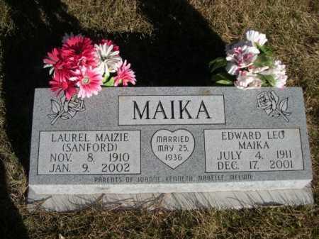 MAIKA, EDWARD LEO - Dawes County, Nebraska | EDWARD LEO MAIKA - Nebraska Gravestone Photos