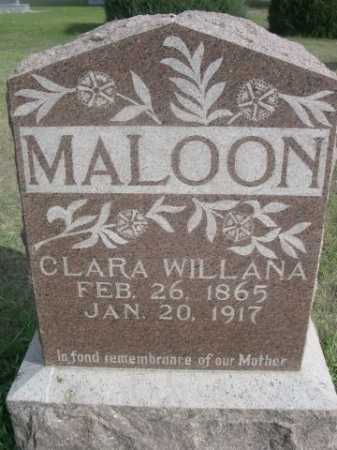 MALOON, CLARA WILLANA - Dawes County, Nebraska | CLARA WILLANA MALOON - Nebraska Gravestone Photos