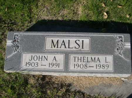 MALSI, THEMLMA L. - Dawes County, Nebraska | THEMLMA L. MALSI - Nebraska Gravestone Photos