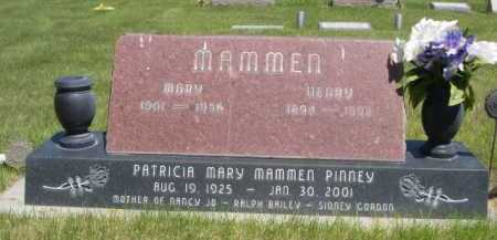 MAMMEN PINNEY, PATRICIA MARY - Dawes County, Nebraska | PATRICIA MARY MAMMEN PINNEY - Nebraska Gravestone Photos