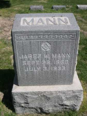 MANN, JABEZ W. - Dawes County, Nebraska | JABEZ W. MANN - Nebraska Gravestone Photos