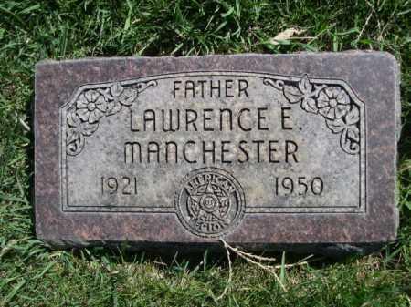 MANCHESTER, LAWRENCE E. - Dawes County, Nebraska   LAWRENCE E. MANCHESTER - Nebraska Gravestone Photos