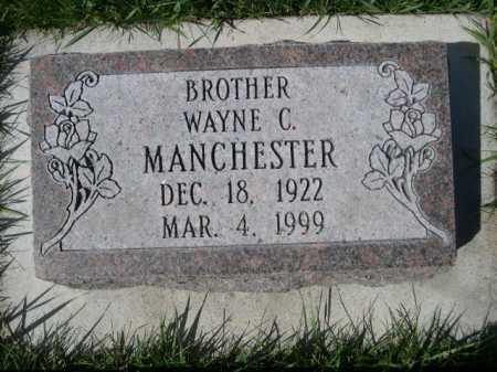 MANCHESTER, WAYNE C. - Dawes County, Nebraska   WAYNE C. MANCHESTER - Nebraska Gravestone Photos