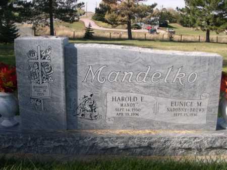 "MANDELKO, HAROLD E. ""MANDY"" - Dawes County, Nebraska   HAROLD E. ""MANDY"" MANDELKO - Nebraska Gravestone Photos"