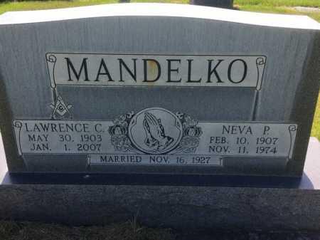 MANDELKO, NEVA P. - Dawes County, Nebraska   NEVA P. MANDELKO - Nebraska Gravestone Photos