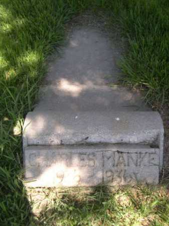 MANKE, CHARLES - Dawes County, Nebraska   CHARLES MANKE - Nebraska Gravestone Photos