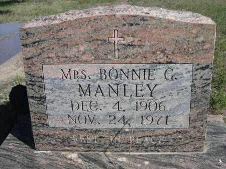 MANLEY, MRS. BONNIE G. - Dawes County, Nebraska   MRS. BONNIE G. MANLEY - Nebraska Gravestone Photos