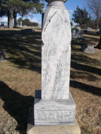 MANN, CRESSIE - Dawes County, Nebraska   CRESSIE MANN - Nebraska Gravestone Photos
