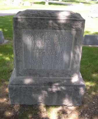 MANN, REBECCA V. - Dawes County, Nebraska | REBECCA V. MANN - Nebraska Gravestone Photos