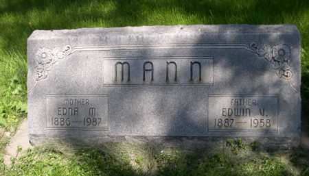MANN, EDWIN V. - Dawes County, Nebraska | EDWIN V. MANN - Nebraska Gravestone Photos