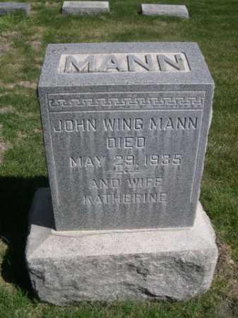 MANN, JOHN WING - Dawes County, Nebraska   JOHN WING MANN - Nebraska Gravestone Photos
