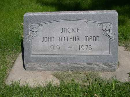 "MANN, JOHN ARTHUR ""JACKIE"" - Dawes County, Nebraska | JOHN ARTHUR ""JACKIE"" MANN - Nebraska Gravestone Photos"