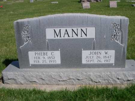 MANN, JOHN W. - Dawes County, Nebraska | JOHN W. MANN - Nebraska Gravestone Photos