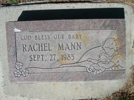 MANN, RACHEL - Dawes County, Nebraska | RACHEL MANN - Nebraska Gravestone Photos