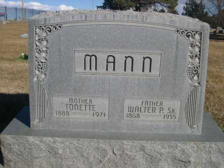 MANN, WALTER P. SR. - Dawes County, Nebraska   WALTER P. SR. MANN - Nebraska Gravestone Photos