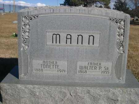 MANN, TONETTE - Dawes County, Nebraska   TONETTE MANN - Nebraska Gravestone Photos