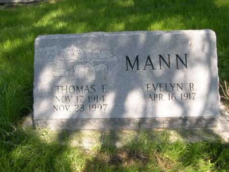 MANN, THOMAS E - Dawes County, Nebraska | THOMAS E MANN - Nebraska Gravestone Photos