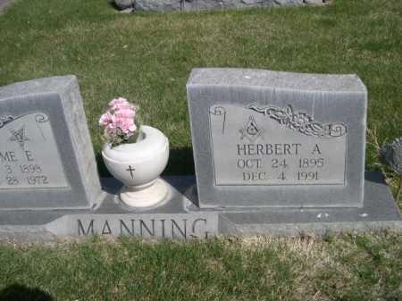 MANNING, HERBERT A. - Dawes County, Nebraska | HERBERT A. MANNING - Nebraska Gravestone Photos