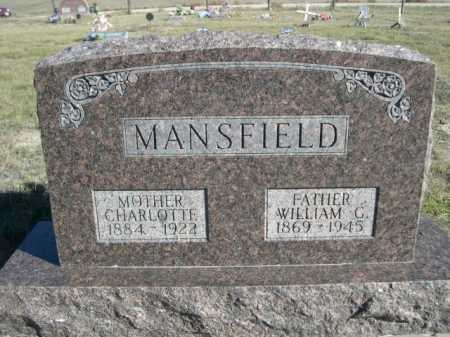 MANSFIELD, WILLIAM G. - Dawes County, Nebraska | WILLIAM G. MANSFIELD - Nebraska Gravestone Photos