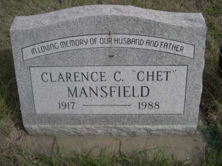 """MANSFIELD, CLARENCE C. """"CHET"""" - Dawes County, Nebraska   CLARENCE C. """"CHET"""" MANSFIELD - Nebraska Gravestone Photos"""