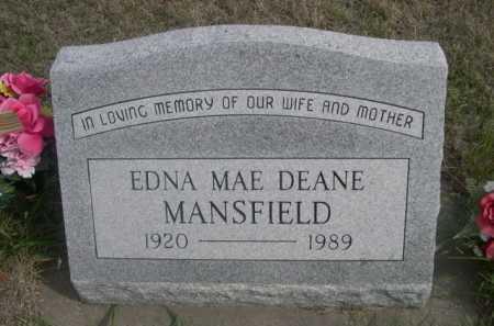 MANSFIELD, EDNA MAE - Dawes County, Nebraska | EDNA MAE MANSFIELD - Nebraska Gravestone Photos
