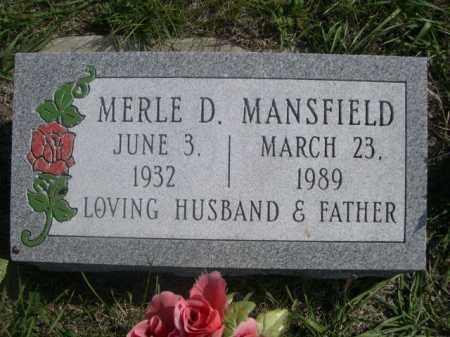 MANSFIELD, MERLE D. - Dawes County, Nebraska   MERLE D. MANSFIELD - Nebraska Gravestone Photos