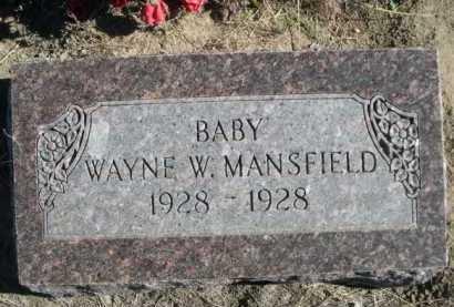 MANSFIELD, WAYNE W. - Dawes County, Nebraska | WAYNE W. MANSFIELD - Nebraska Gravestone Photos