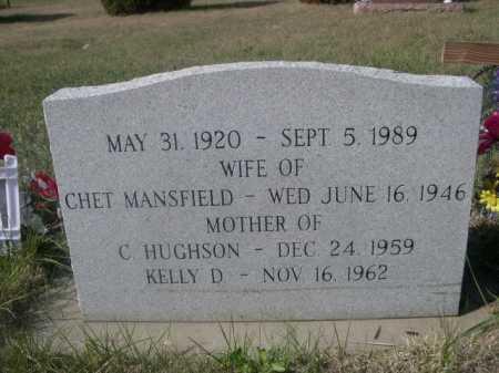 MANSFIELD, WIFE OF CHET - Dawes County, Nebraska   WIFE OF CHET MANSFIELD - Nebraska Gravestone Photos