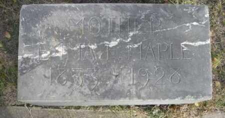 MAPLE, EMMA F. - Dawes County, Nebraska | EMMA F. MAPLE - Nebraska Gravestone Photos