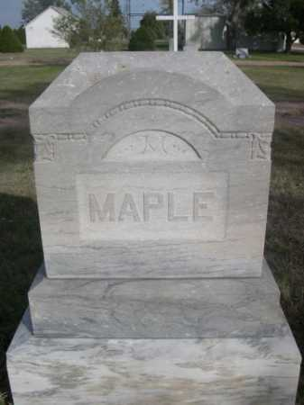 MAPLE, FAMILY - Dawes County, Nebraska | FAMILY MAPLE - Nebraska Gravestone Photos