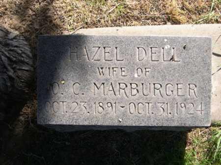 DELL MARBURGER, HAZEL DELL - Dawes County, Nebraska | HAZEL DELL DELL MARBURGER - Nebraska Gravestone Photos