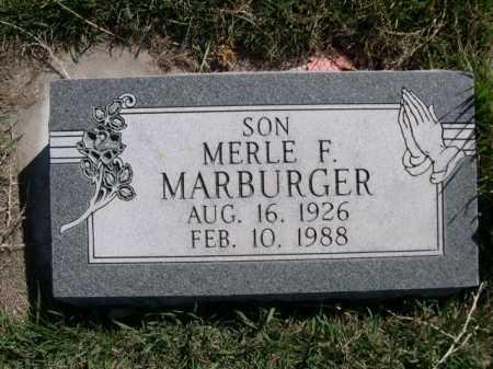 MARBURGER, MERLE F. - Dawes County, Nebraska | MERLE F. MARBURGER - Nebraska Gravestone Photos