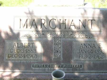 MARCHANT, ALBERT - Dawes County, Nebraska | ALBERT MARCHANT - Nebraska Gravestone Photos