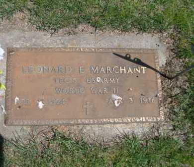 MARCHANT, LEONARD E. - Dawes County, Nebraska | LEONARD E. MARCHANT - Nebraska Gravestone Photos