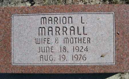MARRALL, MARION L. - Dawes County, Nebraska   MARION L. MARRALL - Nebraska Gravestone Photos