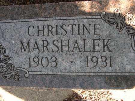MARSHALEK, CHRISTINE - Dawes County, Nebraska   CHRISTINE MARSHALEK - Nebraska Gravestone Photos