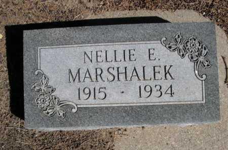 MARSHALEK, NELLIE E. - Dawes County, Nebraska | NELLIE E. MARSHALEK - Nebraska Gravestone Photos