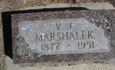 MARSHALEK, V. J. - Dawes County, Nebraska | V. J. MARSHALEK - Nebraska Gravestone Photos