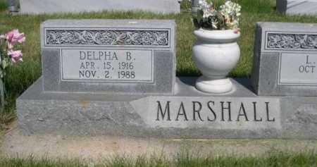 MARSHALL, DELPHA B. - Dawes County, Nebraska | DELPHA B. MARSHALL - Nebraska Gravestone Photos