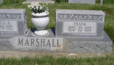 MARSHALL, FRANK - Dawes County, Nebraska | FRANK MARSHALL - Nebraska Gravestone Photos