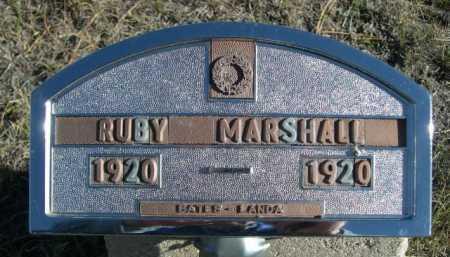 MARSHALL, RUBY - Dawes County, Nebraska | RUBY MARSHALL - Nebraska Gravestone Photos