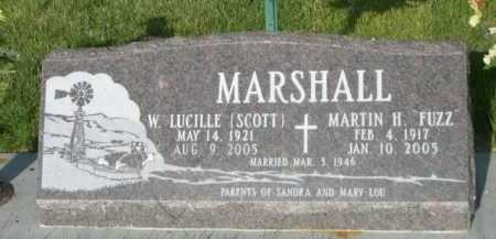 SCOTT MARSHALL, W. LUCILLE - Dawes County, Nebraska | W. LUCILLE SCOTT MARSHALL - Nebraska Gravestone Photos