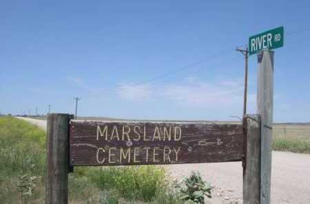 *MARSLAND CEMETERY, SIGN TO - Dawes County, Nebraska | SIGN TO *MARSLAND CEMETERY - Nebraska Gravestone Photos