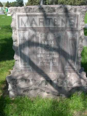 MARTENS, WILLIAM - Dawes County, Nebraska | WILLIAM MARTENS - Nebraska Gravestone Photos