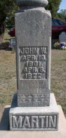 MARTIN, JOHN W. - Dawes County, Nebraska | JOHN W. MARTIN - Nebraska Gravestone Photos