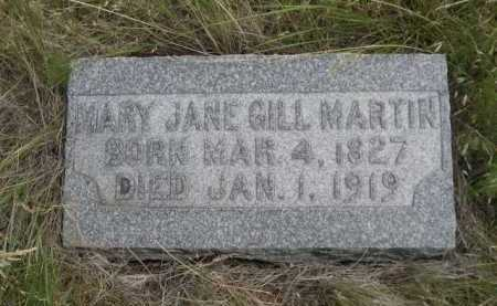 MARTIN, MARY JANE GILL - Dawes County, Nebraska | MARY JANE GILL MARTIN - Nebraska Gravestone Photos