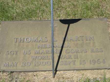 MARTIN, THOMAS L. - Dawes County, Nebraska | THOMAS L. MARTIN - Nebraska Gravestone Photos