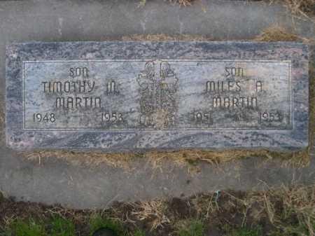 MARTIN, MILES A. - Dawes County, Nebraska | MILES A. MARTIN - Nebraska Gravestone Photos